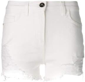 Elisabetta Franchi denim distressed shorts