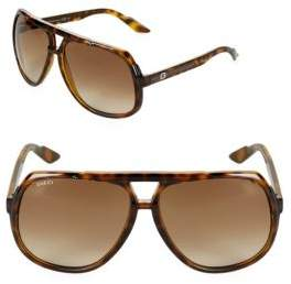Gucci Gradient 63MM Aviator Sunglasses