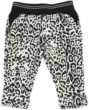 Roberto Cavalli Leopard Print Cotton Sweatpants