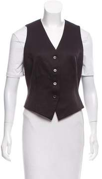Tahari Wool Button-Up Vest