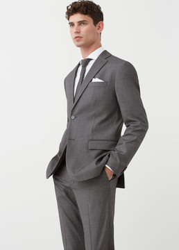 Mango Outlet Slim-fit patterned suit blazer