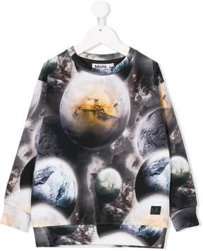 Molo planets-print sweatshirt