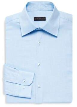 Ike Behar Slim-Fit Textured Dress Shirt