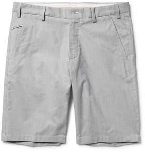 Loro Piana Slim-Fit Striped Stretch Cotton And Linen-Blend Bermuda Shorts