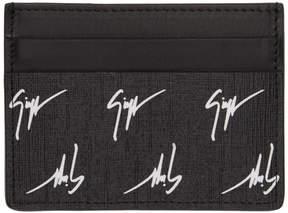 Giuseppe Zanotti Black Logo Card Holder