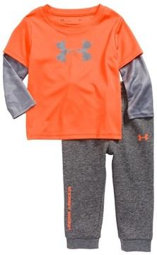 Under Armour Infant Boy's Big Logo Bodysuit & Pants Set
