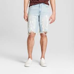 Jackson Men's 12 Destructed Bleach Jean Shorts Light Indigo
