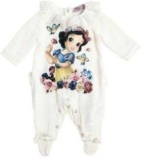 MonnaLisa Snow White Print Cotton Romper