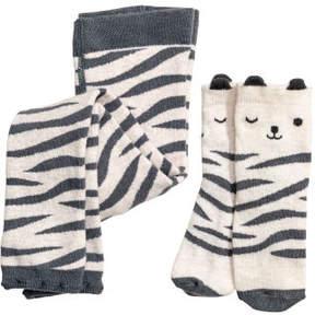 H&M Knit Leggings and Socks - Brown