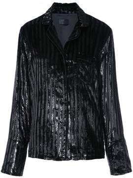 RtA striped sequined blazer