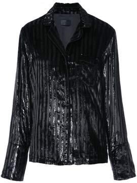 RtA striped sequined blazer