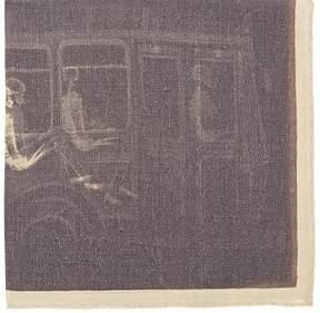 Barneys New York Men's Skeleton-Print Wool-Cashmere Pocket Square