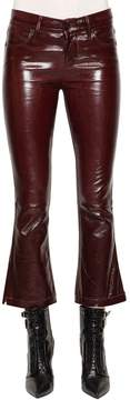 RtA Kiki Crop Boot Cut Patent Leather Pants