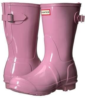 Hunter Back Adjustable Short Gloss Rain Boots Women's Rain Boots