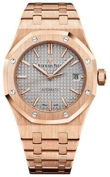 Audemars Piguet Royal Oak Nickel Grey Dial 18 Carat Rose Gold Automatic Ladies Watch