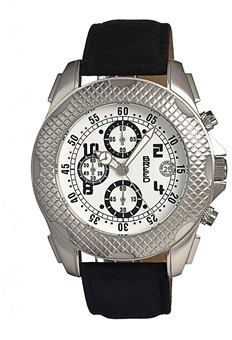 Breed Theo Chronograph Leather-band Watch.