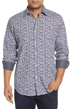 Bugatchi Men's Classic Fit Flower Print Sport Shirt