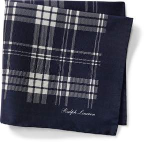 Ralph Lauren Plaid Silk Pocket Square