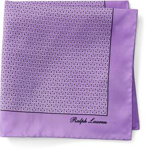 Ralph Lauren Print Silk Pocket Square