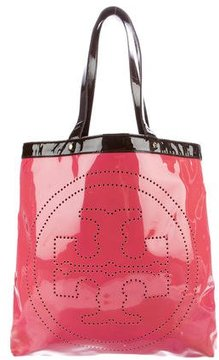 Tory Burch Patent Leather Logo Tote - PINK - STYLE