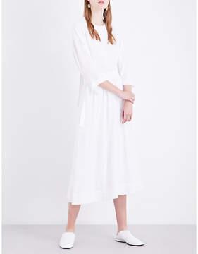 Rosetta Getty Open-back crepe shirt dress