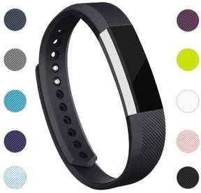 Fitbit POY For Alta / Alta HR Bands Adjustable Replacement Wrist Bands Soft TPU Material Strap Without Tracker (Black, Small)