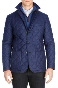 Isaia Quilted Wool Sportcoat