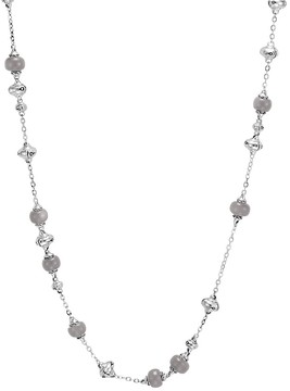 John Hardy Sterling Silver Bamboo Sautoir Necklace with Grey Moonstone, 36