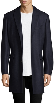 Luciano Barbera Men's Solid Wool Jacket