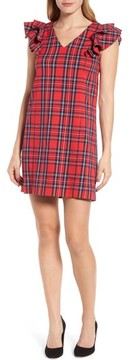 Draper James Women's Angie Check Ruffle Shift Dress