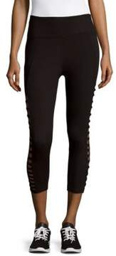 Betsey Johnson Solid Cropped Leggings
