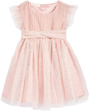 First Impressions Tulle Flutter-Sleeve Dress, Baby Girls (0-24 months), Created for Macy's