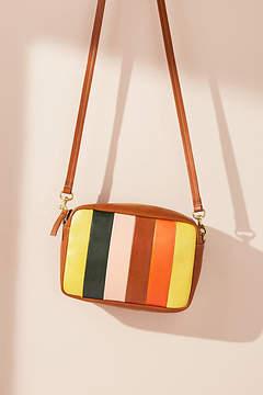 Clare V. Midi Striped Crossbody Bag