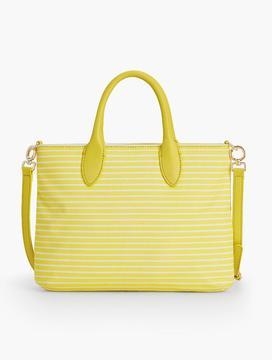 Crossbody Bag-Cotton Canvas Stripes
