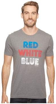 Life is Good Red White Blue Cool Tee