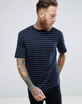 MANGO Man Breton T-Shirt In Navy