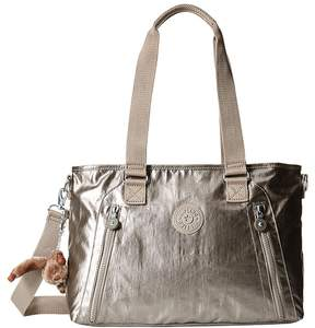 Kipling Angela Medium Shoulder Bag Shoulder Handbags - METALLIC PEWTER - STYLE