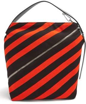 Proenza Schouler Hobo medium striped-knit bag