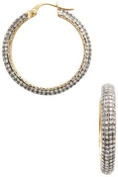 Amrapali Women's 14K Yellow gold & 5.50 Total Ct. Diamond Hoop Earrings