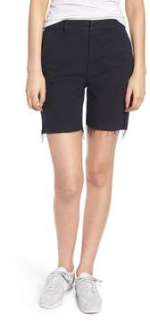 Mother The Bermuda Prep Snippet Fray Twill Shorts