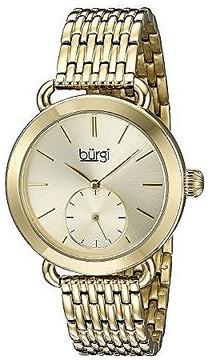 Burgi Gold Tone Dial Ladies Watch