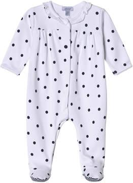 Absorba White and Navy Spot Babygrow