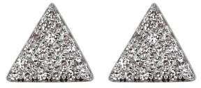 Ef Collection 14K White Gold Pave Diamond Triangle Stud Earrings - 0.13 ctw