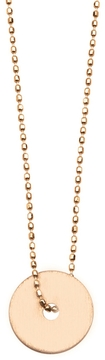 ginette_ny Rose Gold Disc on Beaded Chain