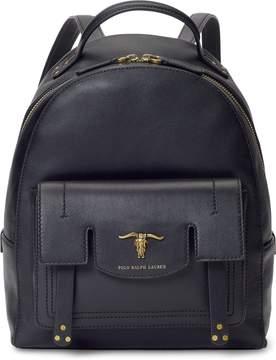 Ralph Lauren Steer-Head Leather Backpack