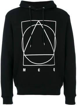 McQ glyph icon print hoodie