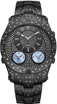 JBW Men's Jet Setter III 1.18 ctw Diamond Black Ion-Plated Stainless Steel Watch