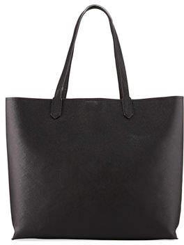 Neiman Marcus Large Saffiano Velvet-Lined Shoulder Tote Bag
