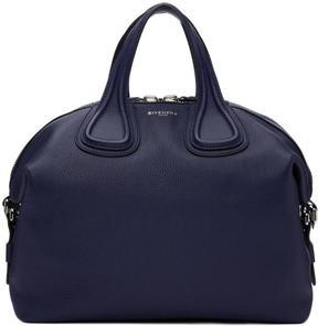 Givenchy Navy Medium Biker Stitching Nightingale Bag