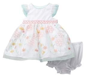 Laura Ashley Organza Embroidered Dress (Baby Girls)